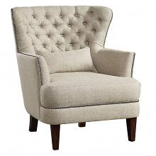 Homelegance 1112-1 Marriana high wing back style beige fabric accent chair nail head trim