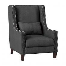 Homelegance 1114DG-1 Keller high back style dark grey fabric accent chair nail head trim