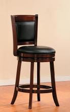 Homelegance 1131-24 Walcott walnut finish wood counter height swivel barstool with back