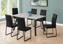"DINING TABLE - 36""X 60"" / GREY / BLACK METAL"
