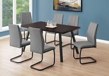 "DINING TABLE - 36""X 60"" / ESPRESSO / BLACK METAL"