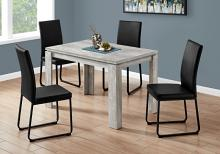 """DINING TABLE - 32""""X 48"""" / GREY RECLAIMED WOOD-LOOK"""