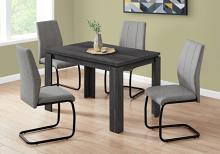 """DINING TABLE - 32""""X 48"""" / BLACK RECLAIMED WOOD-LOOK"""