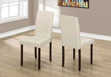 """DINING CHAIR - 2PCS / 36""""H IVORY LEATHER-LOOK"""