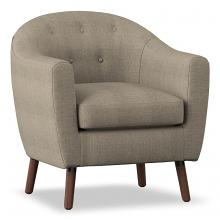 Homelegance 1192-BE Lucille mid century modern beige linen fabric accent chair