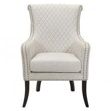Homelegance 1199F11S Avalon classic style off white fabric quilted look accent chair