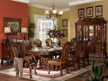 Acme 12150-53-54 7 pc dresden cherry oak finish wood double pedestal dining table set