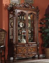 Acme 12158 Dresden cherry oak finish wood curio cabinet
