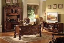 Acme 12169 Dresden cherry oak finish wood detailed carvings ornate office desk