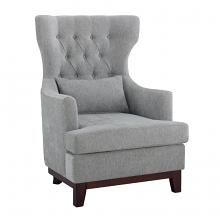Homelegance 1217F5S Adriano high wing back style light gray fabric accent chair nail head trim