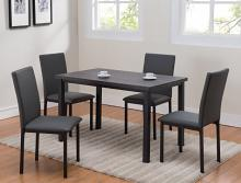 1272SET 5 pc wila arlo interiors orlo dark finish wood dining table set