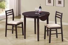 130005 3 pc Maverick nathan espresso finish wood drop leaf breakfast table set