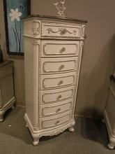 Homelegance 1386NW-12 Sheba antique rustic white finish wood 7 drawer lingerie chest