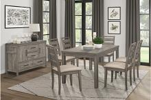 1526-7PC 7 pc Canora grey mel clary weathered gray finish wood dining table set