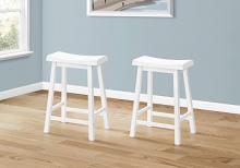 """BARSTOOL - 2PCS / 24""""H / WHITE SADDLE SEAT"""