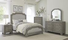 Homelegance 1546-4PC 4 pc Astoria grand colchester driftwood gray finish wood queen bedroom set