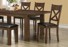 "DINING CHAIR - 2PCS / 40""H / WALNUT / BROWN SEAT"