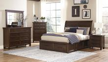 Homelegance 1559-4PC 4 pc Darby home co Logandale brown finish wood bedroom set with drawers