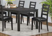 "DINING CHAIR - 2PCS / 39""H / DARK GREY / BLACK SEAT"