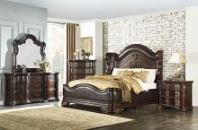 Homelegance 1603-4PC 4 pc Astoria grand cherry finish wood low profile footboard queen bedroom set
