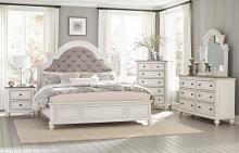 Homelegance 1624W-4PC 4 pc Astoria grand Baylesford antique white and brown gray finish wood queen bedroom set