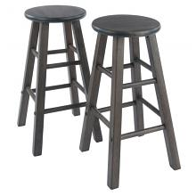 16274 Element Counter Stools, 2-Pc Set, Oyster Gray