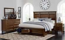 Homelegance 1649-4PC 4 pc Darby home co Frazier park brown cherry finish wood bedroom set with drawers