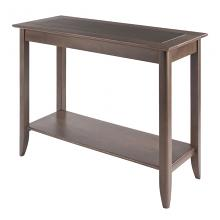 16648  Santino Console Hall Table, Oyster Gray