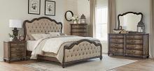 Homelegance 1682-4PC 4 pc Astoria grand heath court brown oak finish wood queen bedroom set