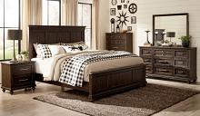 Homelegance 1689-4PC 4 pc Astoria grand Cardano driftwood charcoal finish wood queen bedroom set