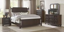 Homelegance 1689P-4PC 4 pc Astoria grand Cardano driftwood charcoal finish wood queen bedroom set
