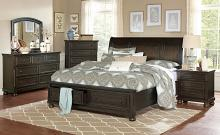 Homelegance 1718GY-4PC 4 pc Darby home co begonia grayish brown finish wood bedroom set