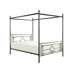 Homelegance 1758-1 Gracie oaks woodson black finish metal frame queen canopy bed