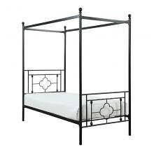 Homelegance 1758T Gracie oaks woodson black finish metal frame twin canopy bed