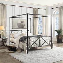 Homelegance 1759-1 Gracie oaks woodson rapa black finish metal frame queen canopy bed