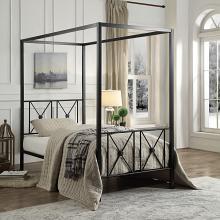 Homelegance 1759T Gracie oaks woodson rapa black finish metal frame twin canopy bed
