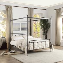 Homelegance 1761-1 Gracie oaks woodson chelone black finish metal frame queen canopy bed
