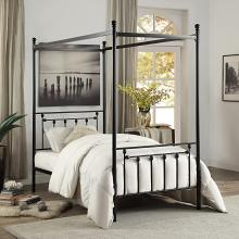 Homelegance 1761T-1 Gracie oaks woodson chelone black finish metal frame twin canopy bed