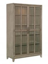 Homelegance 1820-50 Darby home co mckewen light gray oak finish wood curio cabinet