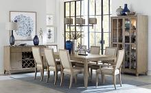Homelegance 1820-86 7 pc Darby home co Mckewen light gray oak finish wood dining table set