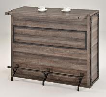 182071 Williston forge ignacio home bar unit aged oak finish wood bar unit