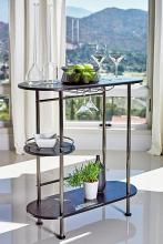 182527 Orren ellis home black nickel finish three tier bar unit
