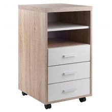 18532 Kenner Mobile 3-Drawer Storage Mobile Cabinet, Two-Tone