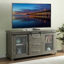 VH-1854  August grove geers industrial charms antique grey finish wood entertainment center TV stand