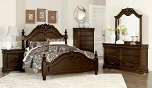 Homelegance 1869-4PC 4 pc Astoria grand mont belvieu dark cherry finish wood queen bedroom set