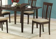 """DINING CHAIR - 2PCS / 38""""H / ESPRESSO WITH MICROFIBER"""