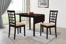190822 Set of 2 Kelso espresso finish wood breakfast bistro chairs