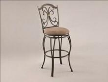 Lauren metal frame swivel seat bar stool with upholstered seat
