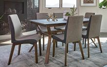 192751 7 pc Charlton home millwood parkersburg natural walnut finish wood dining table set