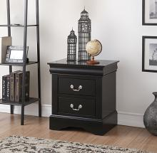 Acme 19503 Louis philippe black finish wood 2 drawer nightstand bed side end table